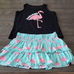 2 Piece JUSTICE tank/skirt